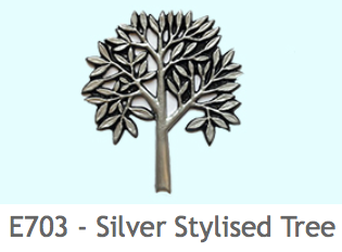 E703 木のイラスト(シルバー)