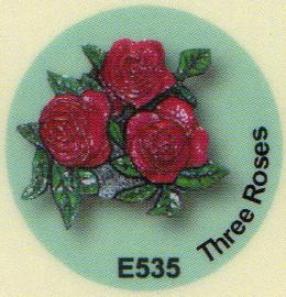 E535 三輪のバラ