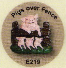 E219 豚(フェンス越しの姿)