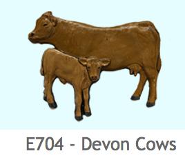 E704 デボン地方の牛