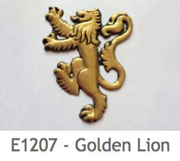 E1207 ゴールドのライオン