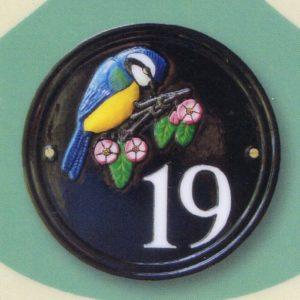 ハウスナンバー 円形 英国輸入ナンバーサイン