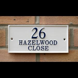 ハウスサイン rectangle 長方形 W20.3cm x H10cm オーダーメイドのイギリス輸入表札