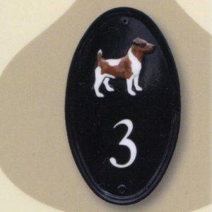ハウスナンバー 楕円形 イギリス輸入ナンバーサイン