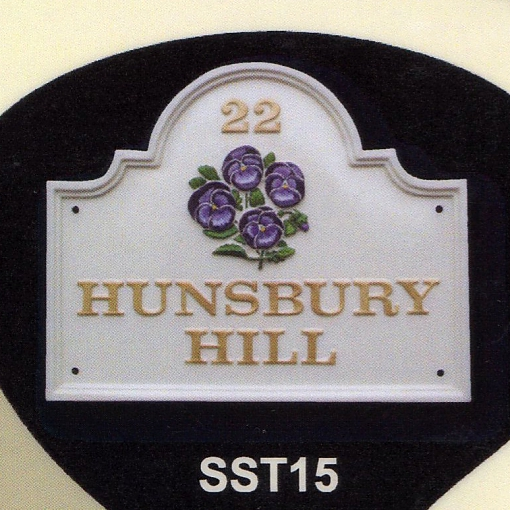 ハウスサイン shaped top 山形 W38cm x H30.5cm カスタムオーダーの英国輸入表札