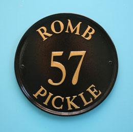 カスタムオーダーの英国輸入看板 30.5cm 円形 - - リリィホワイト