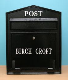 英国輸入ポスト トラディショナル ロック メールボックス - リリィホワイト エクステリア