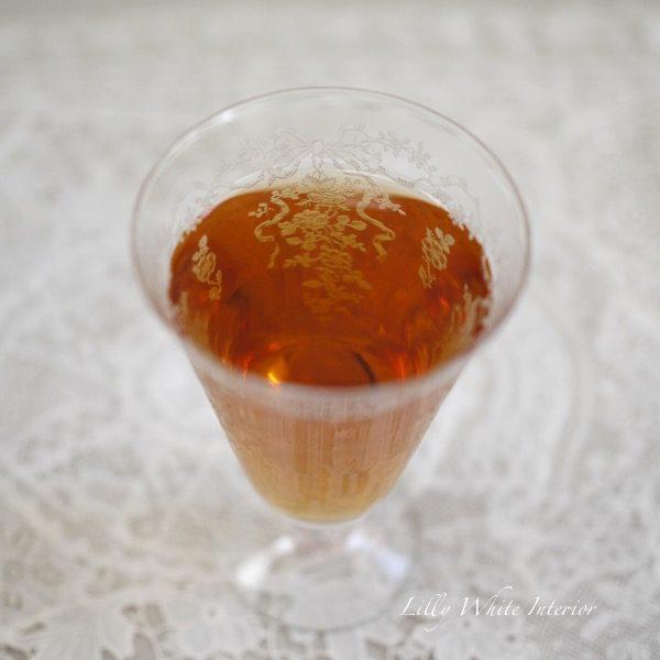 Fostoria フォストリア ロマンス エレガントグラス リボンとお花のアイスティーグラス
