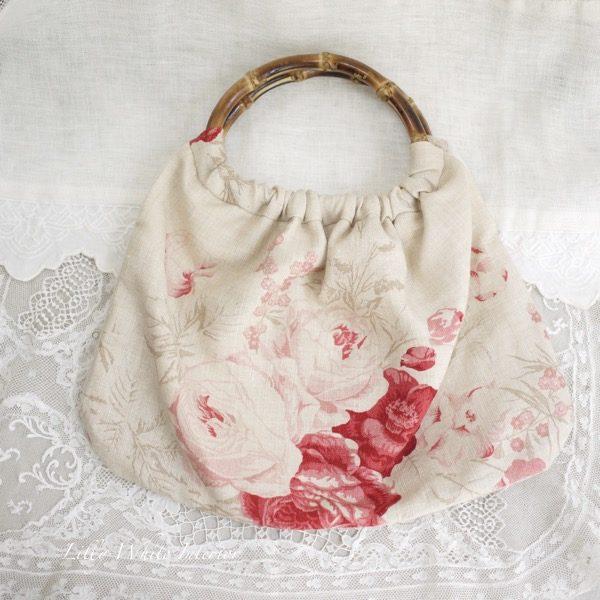 ケイトフォーマン レッドローズ バンブーハンドルのバッグ