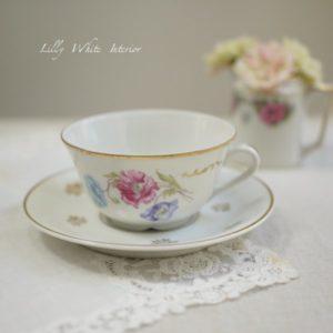 フランス Limoges リモージュ お花のカップ&ソーサー