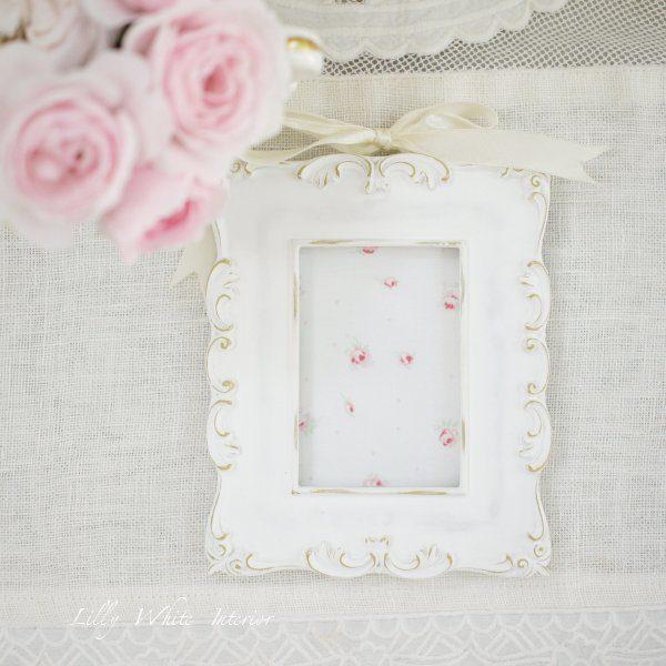 Lilly White Designs -London Roses- ロンドンローズ(ホワイト)生地
