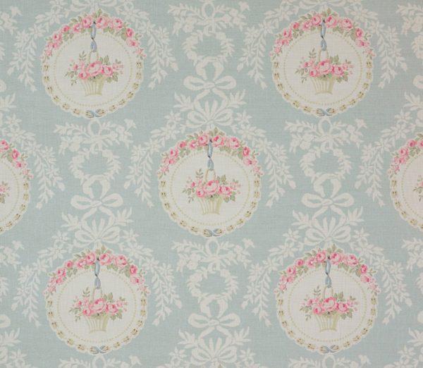 The Painted Room -Rose Medalion- aqua ローズメダリオン アクア 生地
