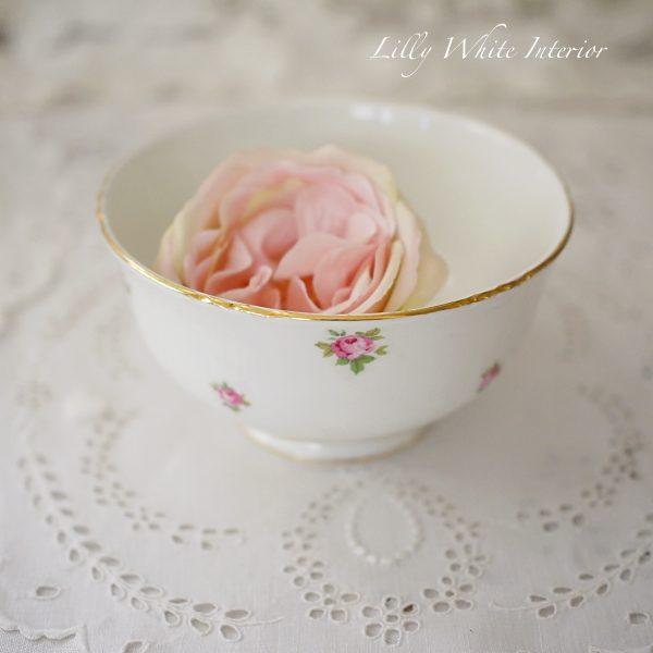Crown Staffordshire クラウンスタッフォードシャー ミニ薔薇のクリーマー&ボウルのセット