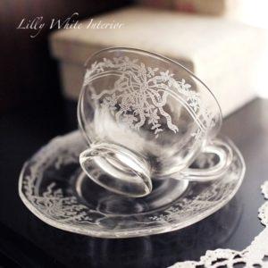 Fostoria フォストリア ジューン エレガントグラス カップ&ソーサー