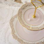 Royal Stuart ロイヤルスチュアート シュガーピンクとお花のケーキスタンド
