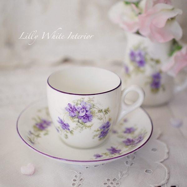 Collingwood コーリングウッド アンティーク スミレの小さなコーヒーカップ